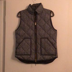 Grey chevron J Crew vest